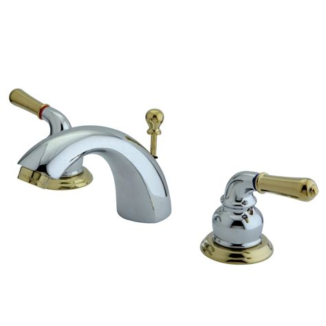 chrome and brass bathroom faucets kingston brass ks2954 mini widespread lavatory faucet