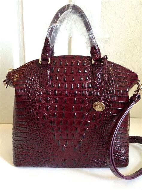 brahmin large duxbury satchel black cherry melbourne