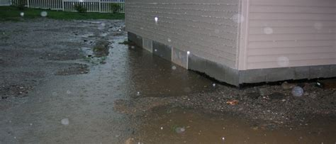 water in basement crawl space drainage problems
