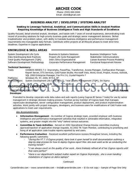 resume of business analyst in banking domain resume ideas