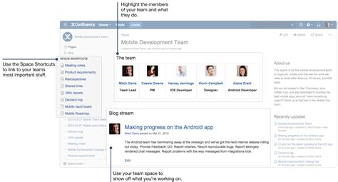 confluence template confluence 101 organize your work in spaces atlassian