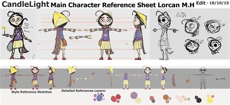 candlelight character reference sheet running in the hamster wheel