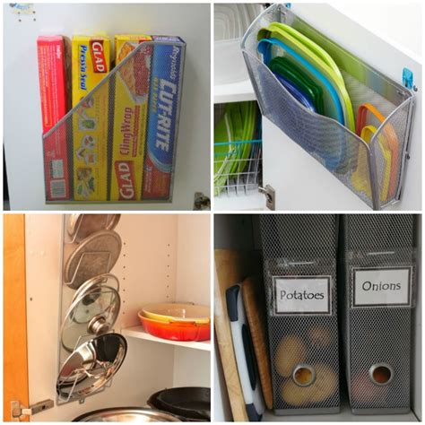 brilliant kitchen cabinet organization ideas glue