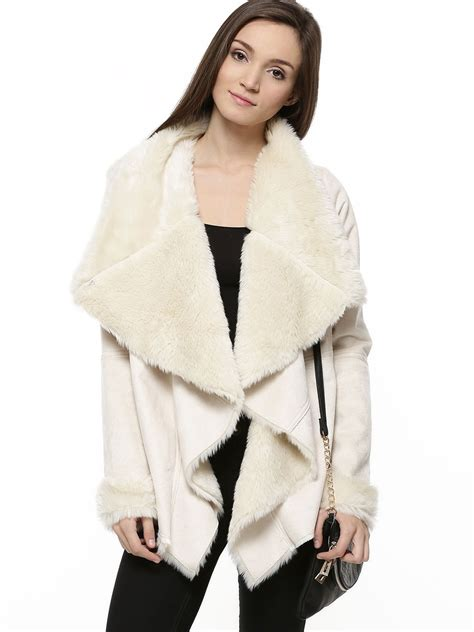 shearling drape jacket buy oasis shearling drape jacket for women women s ivory
