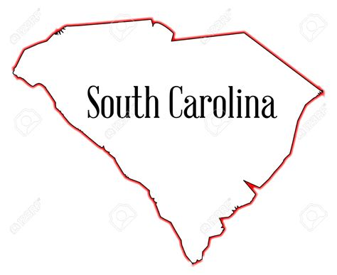 carolina outline map south carolina outline clipart clipartsgram