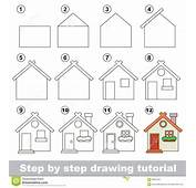 How To Draw A Toy House Stock Vector Image Of Little