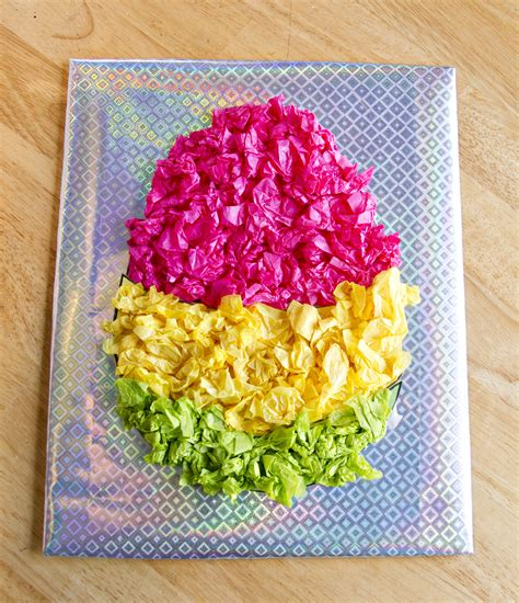 Easter Egg Paper Crafts - preschool crafts for shining tissue paper easter