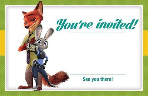 printable zootopia invitations zootopia free printable invitation template zootopia