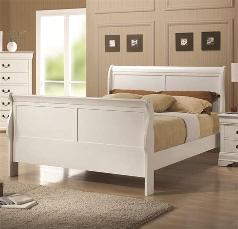 white wood queen bed coaster 204691q white queen size wood bed steal a sofa