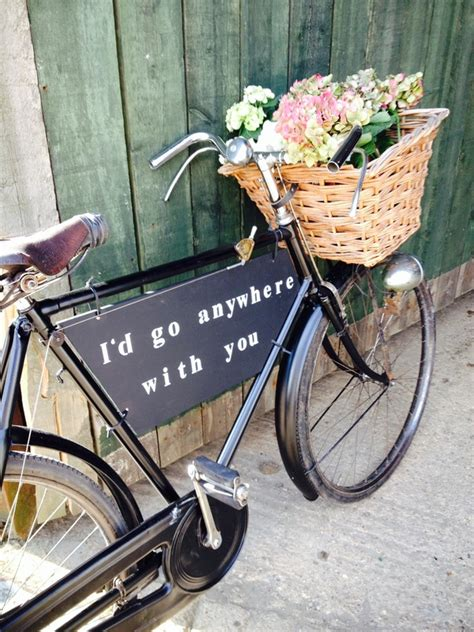 Wedding On Bicycle by Vintage Bike Hire In Market Harborough And