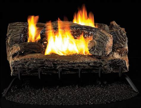 vym27 vintage oak multi sided gas log remote vent free