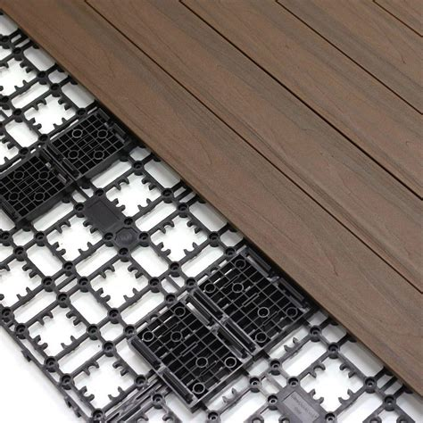 newtechwood 4 32 sq ft deck a floor premium modular composite outdoor flooring system kit in