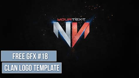 gfx templates clan logo psd free gfx 18 editable template