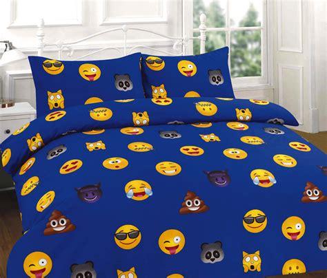 Black Red Duvet Cover Emoji Multi Emotions Smiley Screaming Poo Panda Devil