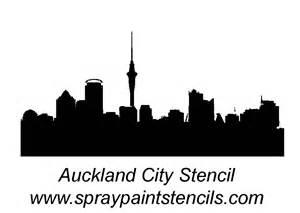 Auckland Skyline Outline stencil requests for september 2007