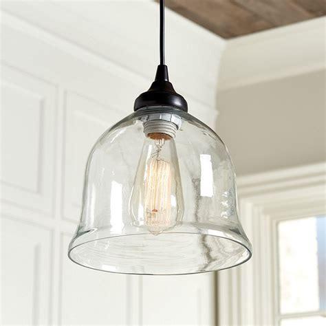 Glass Bell Pendant Light Can Light Adapter Glass Bell Pendant Ballard Designs
