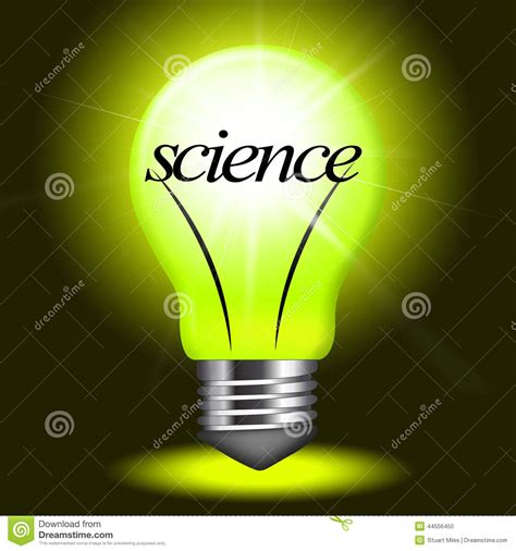 science lightbulb shows chemistry physics and formulas