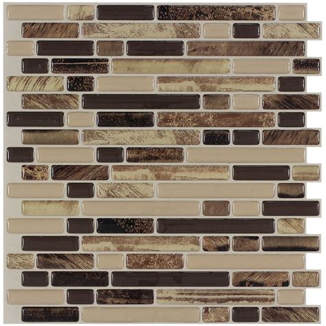 peel stick mosaics rockbridge linear mosaic composite wall