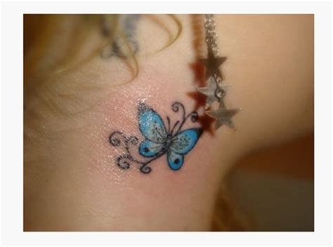 small blue tattoo 63 beautiful neck butterfly tattoos