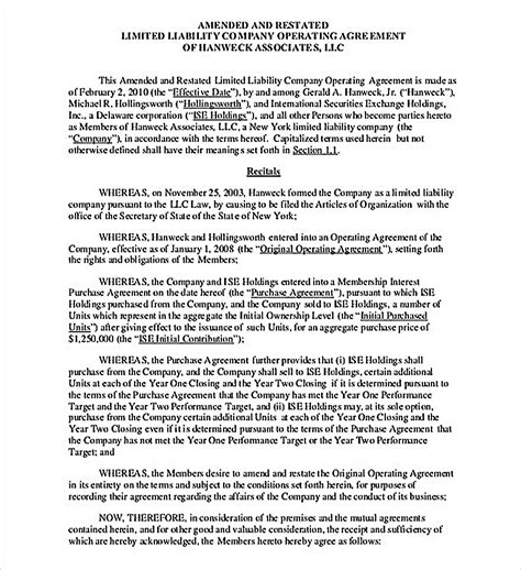 simple operating agreement template 11 operating agreement template for a secure company