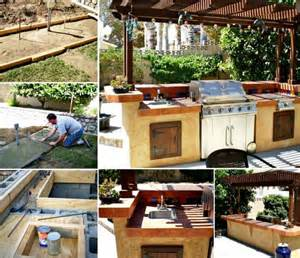 This diy outdoor kitchen will really add that something special to
