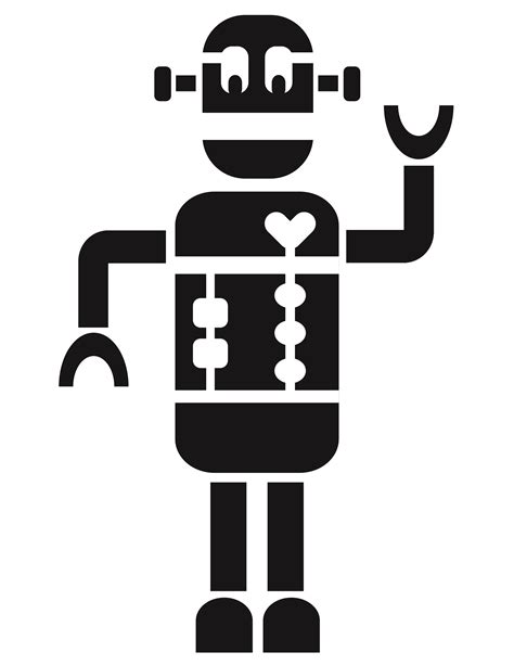 printable stencils for kids rooms print cut paste craft 187 blog archive 187 printable robot