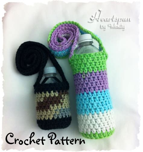 water bottle holder pattern crochet pattern to make a changing colors water bottle holder
