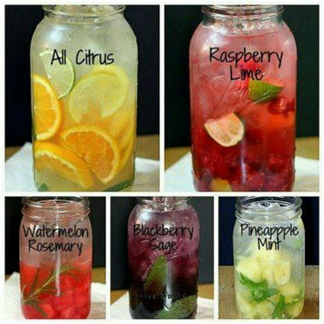 Different Flavored Detox Water by Fruit Herb Flavored Water Recipe Tea Detox
