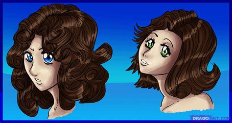 how to draw curly hair anime style step by step anime