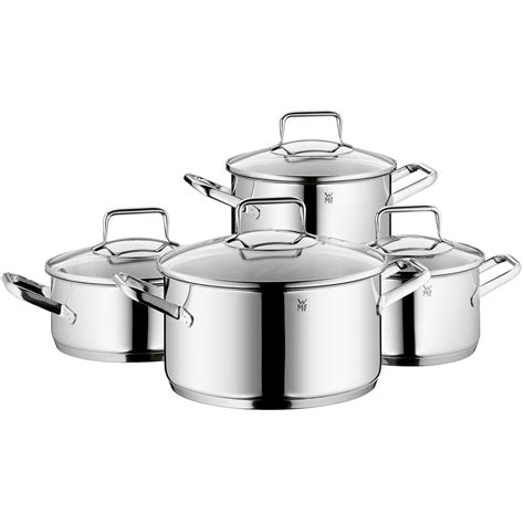wmf trend 18 10 stainless steel cookware set 8