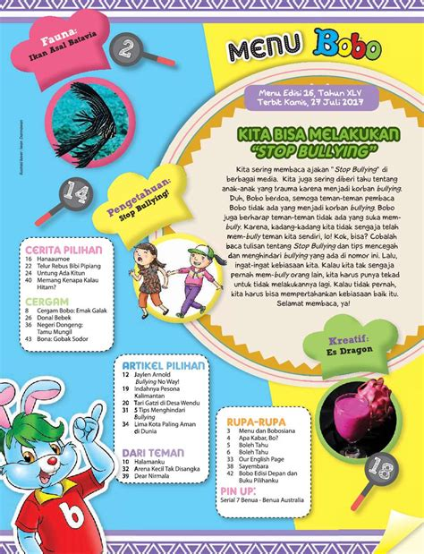 layout majalah bobo jual majalah bobo ed 16 juli 2017 scoop indonesia