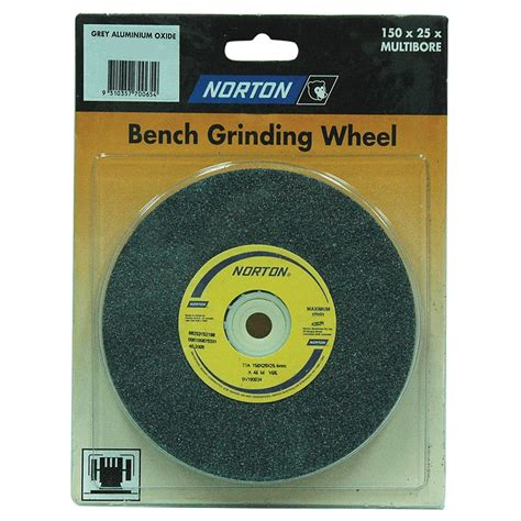 bench grinder wheels norton 150 x 25mm multi bore fine bench grinding wheel