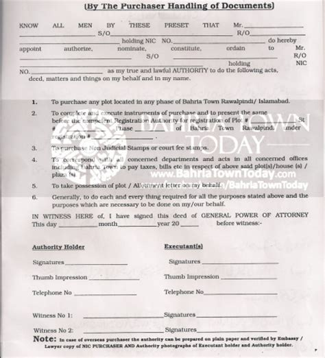 Pakistan Embassy Authority Letter Guide How To Transfer A Plot Home Or Apartment In Bahria Town Karachi Bahria Town Today