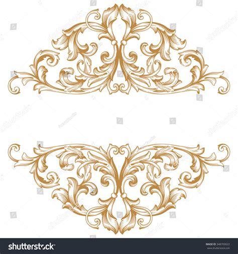gold vintage design elements vector premium gold vintage baroque frame scroll lager vektor
