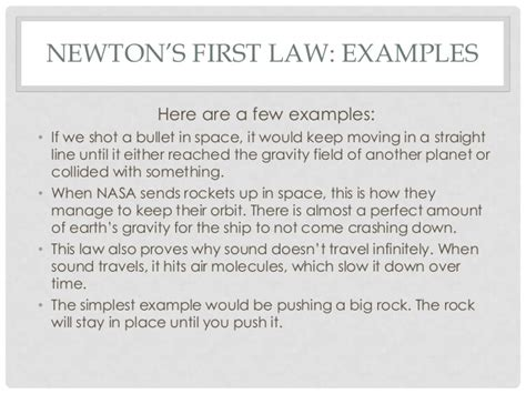 newton s laws of motion explanation with exles