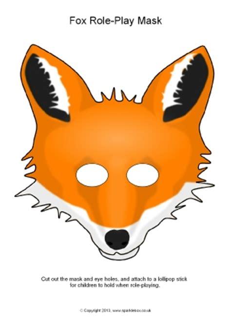 printable mask of a fox eyfs ks1 printable animal roleplay masks sparklebox