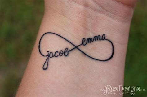 personalized infinity tattoo jroxdesigns