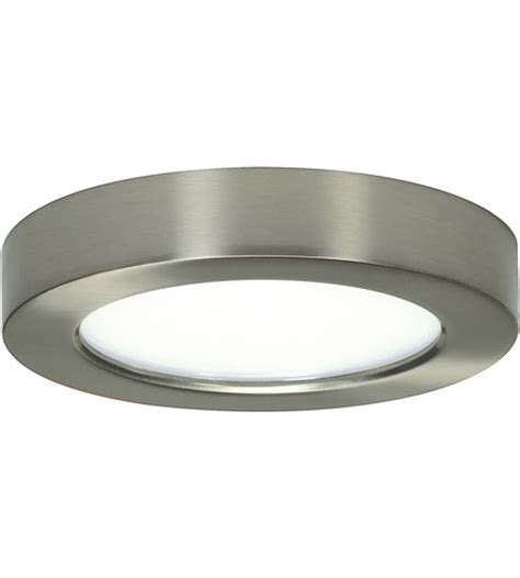6 Inch Flush Mount Ceiling Light Nuvo S9321 Blink Led 6 Inch Brushed Nickel Flush Mount Ceiling Light