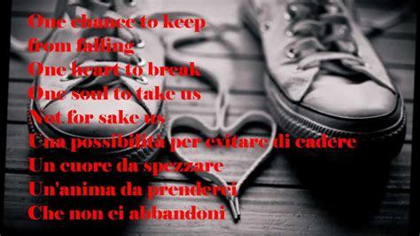 testo only one only one alex band lyrics testo italiano