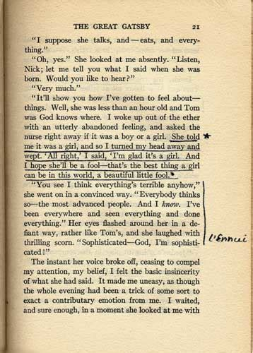 Great Gatsby And Book Comparison Essay by Sylvia Plath Annotates The Great Gatsby The Oncoming