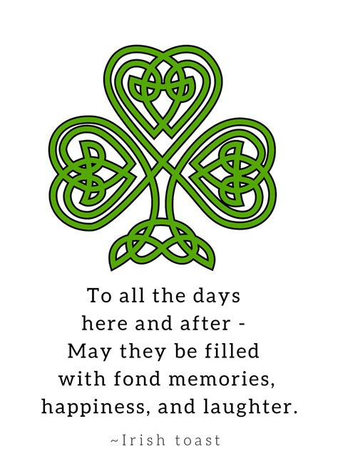 celtic and irish toasts are for st s day decor