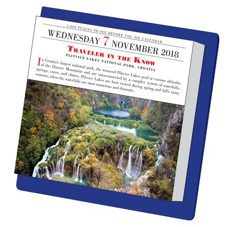 1000 places to see 1523500476 1 000 places to see before you die page a day calendar 2018 patricia schultz 9781523500475