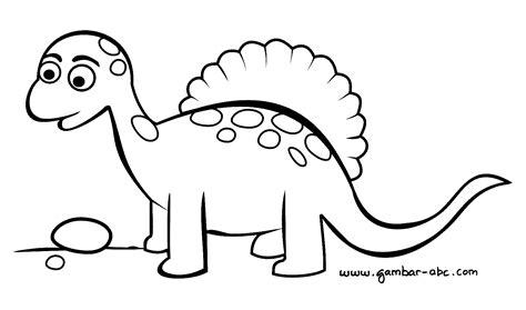 gambar mewarnai dinosaurus lucu