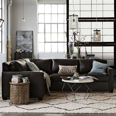 henry leather sectional henry leather sectional pinterest home decor