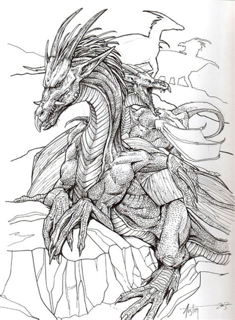 scary fish coloring pages dragones taringa