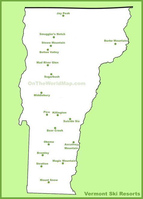 map usa vermont map of vermont ski resorts