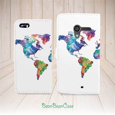 Casing Htc One M9 Retro World Map Custom Hardcase keep calm and travel on world map flip pu leather for
