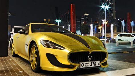 gold maserati car matte gold maserati granturismo sport 2013 in dubai uae