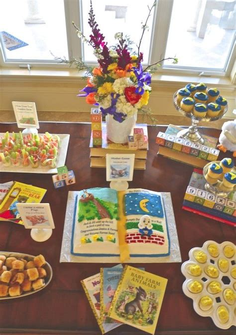 storybook themes storybook cake book decor and nursery rhyme foods for a