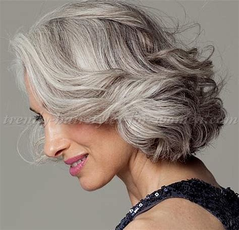 hairstyle for gray thin wavy hair short hairstyles over 50 wavy bob hairstyle for grey